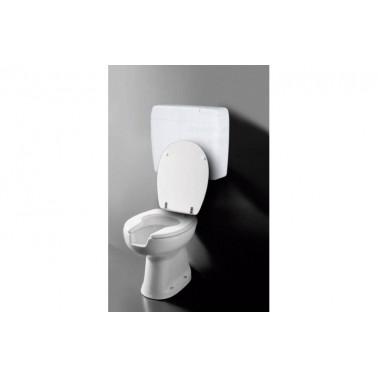 Inodoro ergonómico con cisterna, asiento y tapa salida a pared Presto