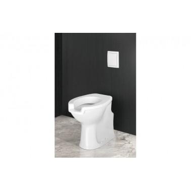 Inodoro ergonómico con fluxor blanco y asiento y tapa Presto