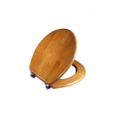 Asiento y tapa de inodoro fabricada en madera Presto