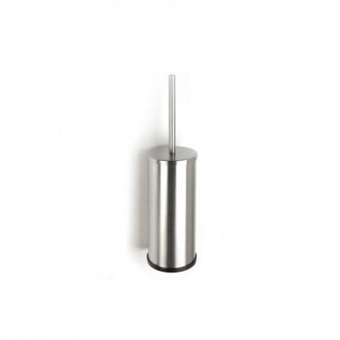Escobillero fabricado en acero inoxidable acabado blanco Presto