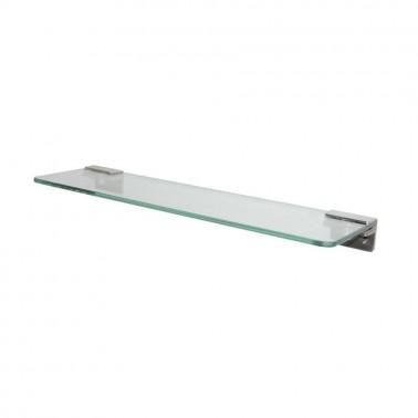 Repisa de cristal fabricada en acero inoxidable blanco Presto