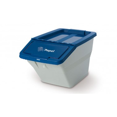 Contenedores de reciclaje apilable para separar tres residuos