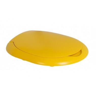 Asiento y tapa para inodoro infantil de color amarillo