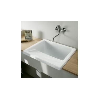 Lavadero de porcelana blanca komercia suministros sanitarios for Pica lavadero roca
