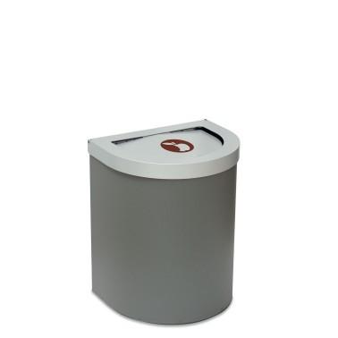 Papelera Niza Estándar Tapa Basculante 1 Residuo 65L CERVIC