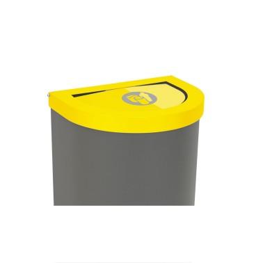 Papelera Niza Estándar Tapa Basculante 1 Residuo 75L con cubeto metálico CERVIC