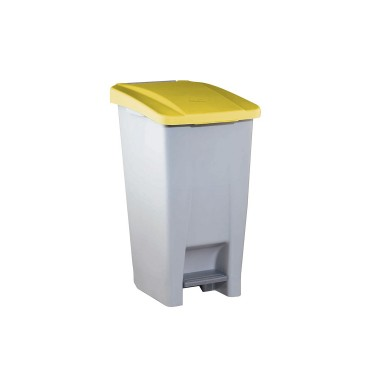 Contenedor de reciclaje con pedal de 60L – Tapa Amarilla Cervic