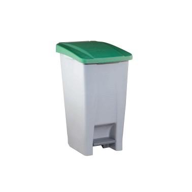 Contenedor de reciclaje con pedal de 60L – Tapa Verde Cervic