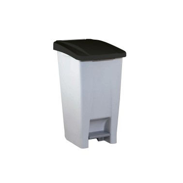 Contenedor de reciclaje con pedal de 60L Aitana – Tapa Negra Cervic