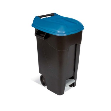 Contenedor de reciclaje con pedal de 120L Teix – Tapa Roja Cervic