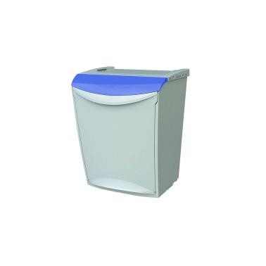 Contenedor de reciclaje apilable con pedal de 25L – Tapa Azul Cervic