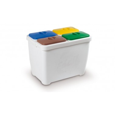 Contenedor de reciclaje multiresiduo de 80L modelo Reciclafácil Cervic