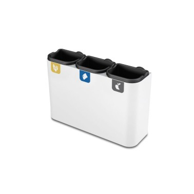 Papelera blanca de reciclaje multiresiduos de 22L modelo Venus Cervic