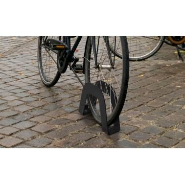 Aparca bicicletas individual fabricado en acero inoxidable modelo Utrecht Cervic
