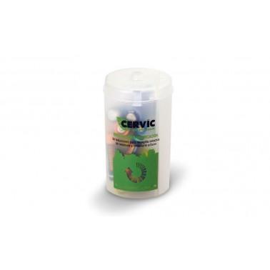 Contenedor Mini recicla pilas acabado traslúcido de 0'25L Cervic