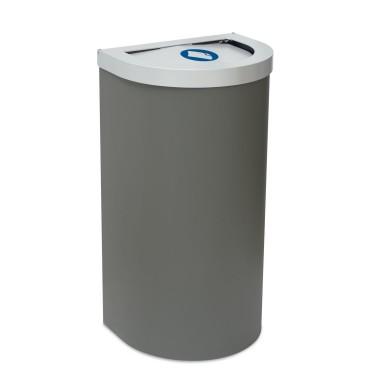 Papelera Niza Tapa Abierta 1 Residuo 95L con cubeto metálico CERVIC