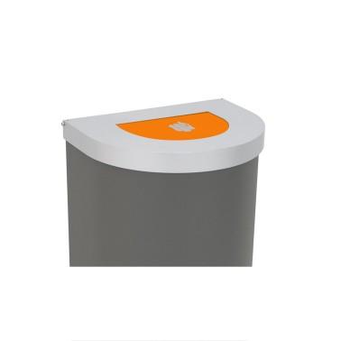 Papelera Niza con Trampilla Autocierre 1 Residuo 95L con cubeto metálico CERVIC