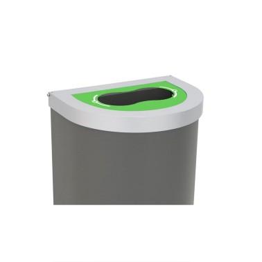 Papelera Niza Tapa Boca Selectiva 1 Residuo 95L con cubeto metálico CERVIC