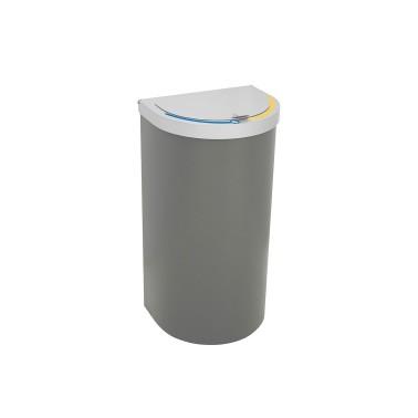 Papelera Niza con Tapa de Autocierre Suave 2 Residuos 65L CERVIC