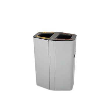 Papelera Munich Estándar 2 Residuos 100L con cubeto metálico CERVIC