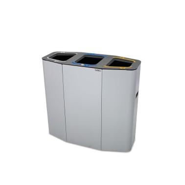 Papelera Munich Estándar 3 Residuos 160L con cubeto metálico CERVIC