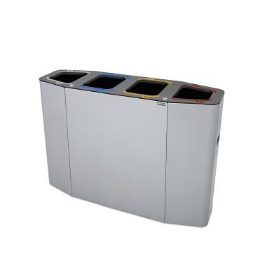 Papelera Munich Estándar 4 Residuos 220L con cubeto metálico CERVIC