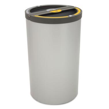 Papelera Madrid INOX 4 Residuos con cubeto metálico 120L CERVIC