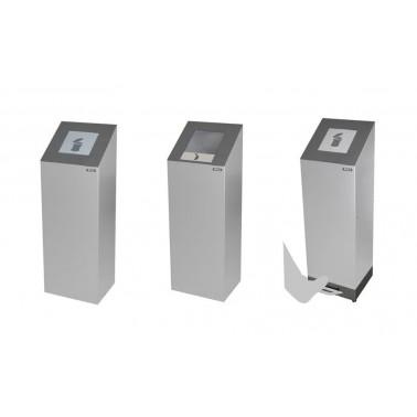 Papelera Altea 100L Tapa abierta 1 Residuo con cubeto metálico CERVIC