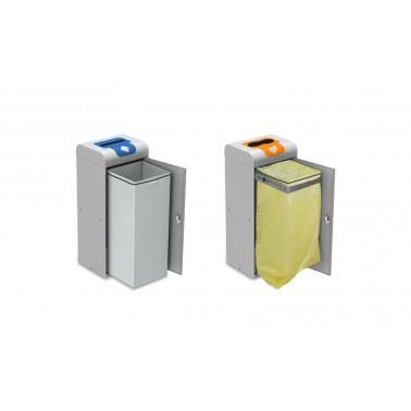 Papelera Estocolmo Estándar con Boca Selectiva 1 Residuo 75L con cubeto metálico CERVIC