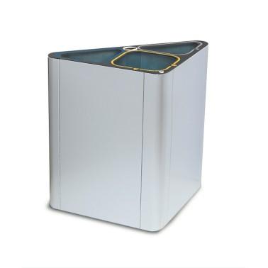 Papelera Dublín INOX 3+1 Residuos 150L CERVIC