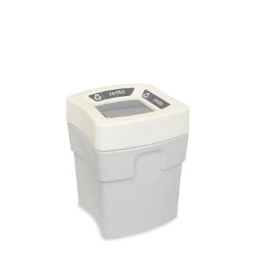 Papelera Milan Estándar 1 Residuo 60L con tapa con boca abierta CERVIC
