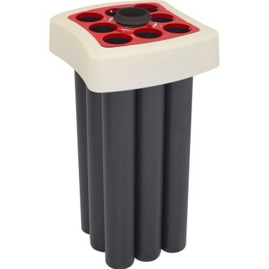 Papelera Milan 1 Residuo 100L con tapa con boca selectiva Vasos de plástico y depósito liquidos CERVIC