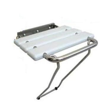 Asiento abatible fabricado en acero brillante y laminas de ABS Komercia