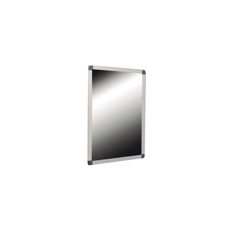Espejo reclinable para discapacitados marco de acero inoxidable acabado satinado y vidrio de seguridad medidas 50X70cm Komercia