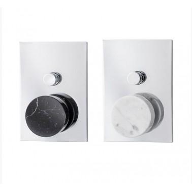 Grifo monomando empotrado de baño/ducha de mármol Carrara Galindo
