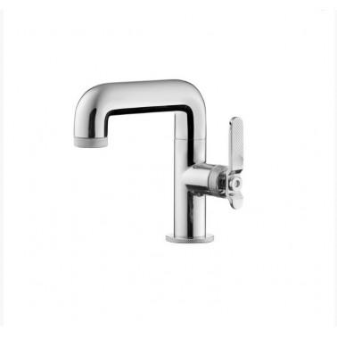 Grifo de lavabo sin desagüe semiautomático con palanca modelo Strem Galindo