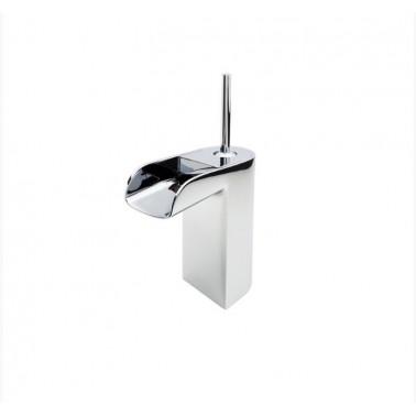 Grifo de lavabo medio sin desagüe semiautomático modelo Loveme Galindo
