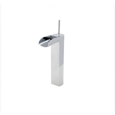 Grifo de lavabo alto sin desagüe semiautomático modelo Loveme Galindo