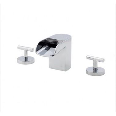 Grifo de lavabo mural sin desagüe automático modelo Loveme Galindo