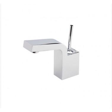 Grifo de lavabo níquel sin desagüe semiautomático modelo Hey Joe Galindo
