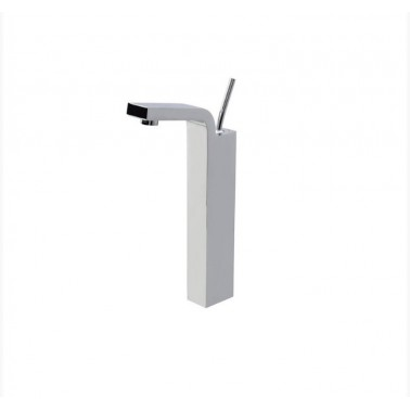 Grifo alto de lavabo cromado con desagüe semiautomático modelo Hey Joe Galindo
