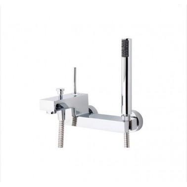 Grifo de baño/ducha níquel con accesorios de ducha Hey Joe Galindo