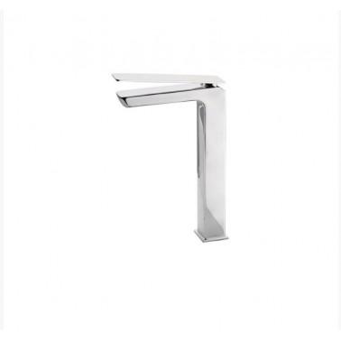 Grifo alto de lavabo con desagüe semiautomático modelo Kissme Galindo