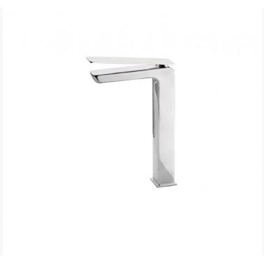 Grifo alto de lavabo sin desagüe semiautomático modelo Kissme Galindo