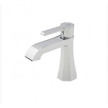 Grifo de lavabo cromo con desagüe semiautomático modelo Belmondo Galindo