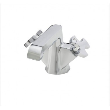 Grifo de lavabo bronce bimando sin desagüe semiautomático Belmondo Galindo