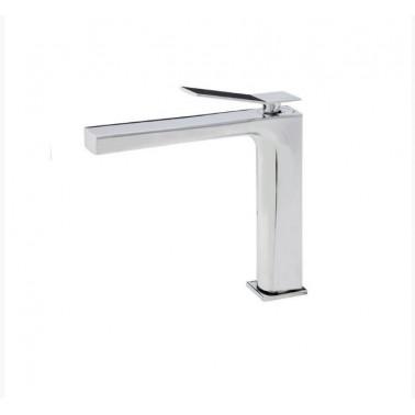 Grifo medio de lavabo con desagüe semiautomático modelo Wave Galindo