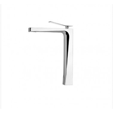 Grifo alto de lavabo sin desagüe semiautomático modelo Wave Galindo