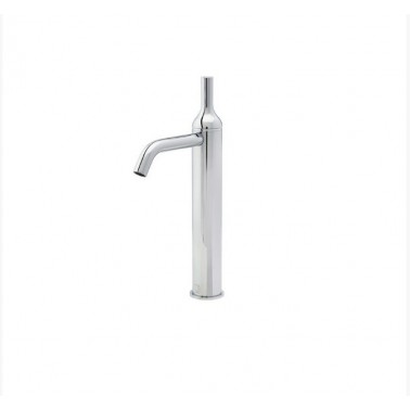 Grifo alto de lavabo blanco sin desagüe semiautomático modelo Batlo Galindo