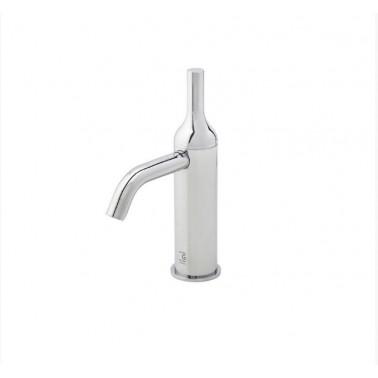 Grifo de lavabo blanco sin desagüe semiautomático modelo Batlo Galindo